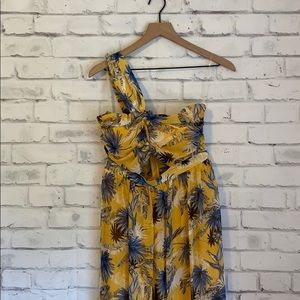 NWOT L'atiste yellow & blue floral maxi